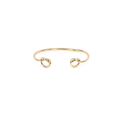 Double Twirl Bracelet in Gold and Silver
