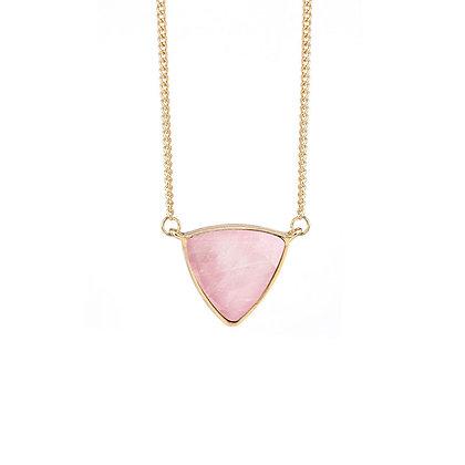 Natural Pink Stone Drop Pendant