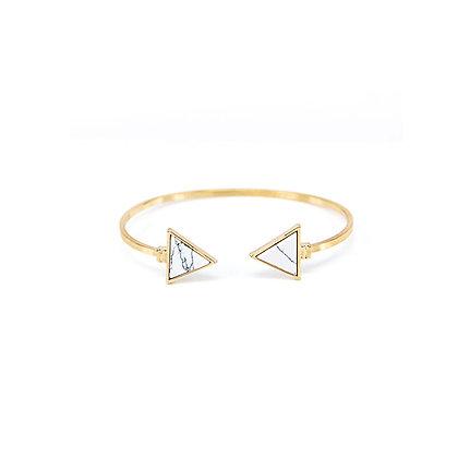 Symmetrical Triangular Marble Bracelet