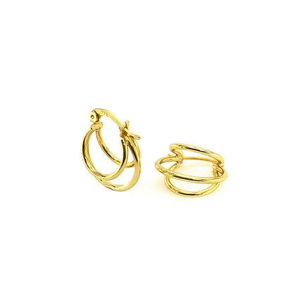 S925 Split Hoop Earrings