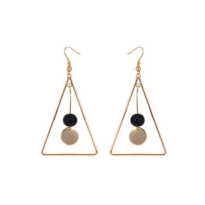 Delicate Large Hollow Triangle Drop Earrings