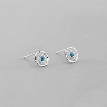 S925 Delicate Web Earrings