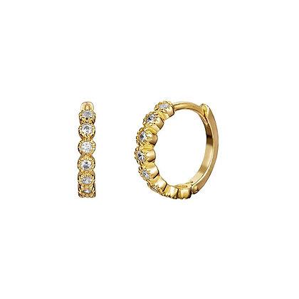 S925 Crystal Hoop Earring