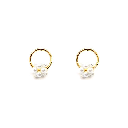 Tiny Cluster Pearl Studs- S925 Post