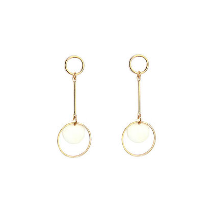 Double Circle Shell Earrings