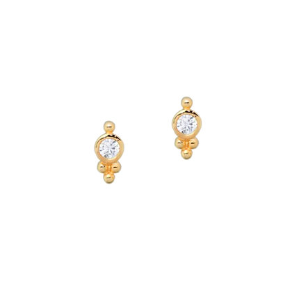 S925 Mini CZ Stud Earrings