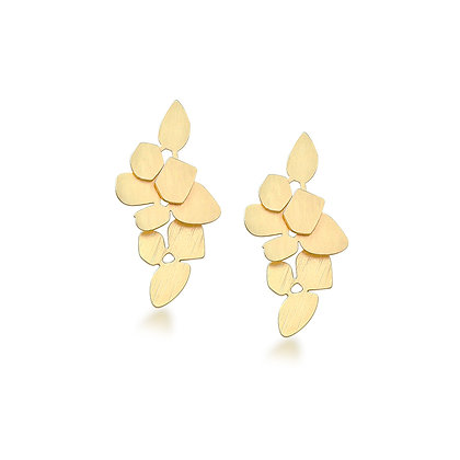 Matte Fleur Drop Earrings -S925 Post