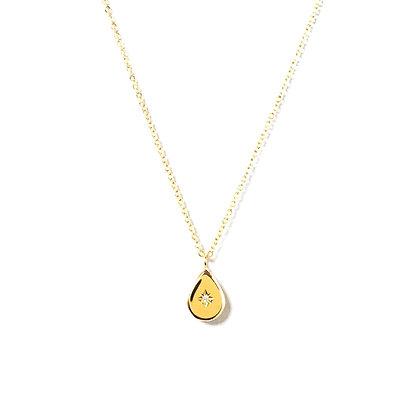 18k Gold Plated Drop Pendant