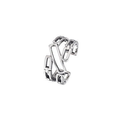 S925 Square Adjustable Ring
