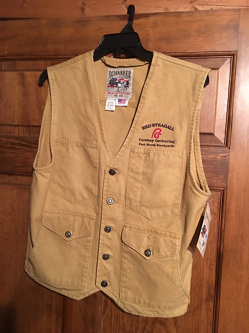 RS Cowboy Gathering Mesquite Vest  Sizes XXL-XXXL