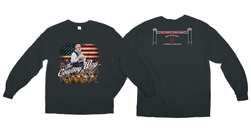 Adult Patriotic RS Cowboy Gathering T-Shirt-Long sleeve Sizes S-XL