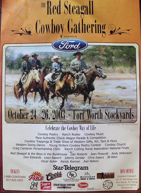 2003 Cowboy Gathering Poster