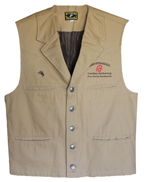 RS Cowboy Gathering  Canvas Vest-Size Small Only
