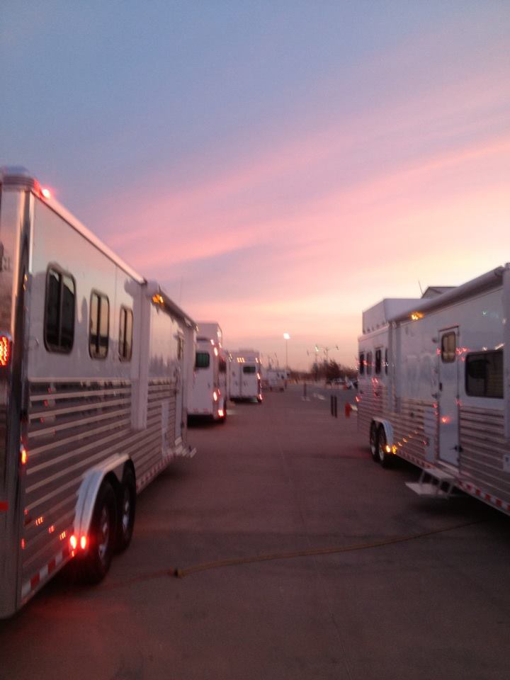 SUNSET RIGS OUTSIDE NRHA FUTURITY.KPASCHAL
