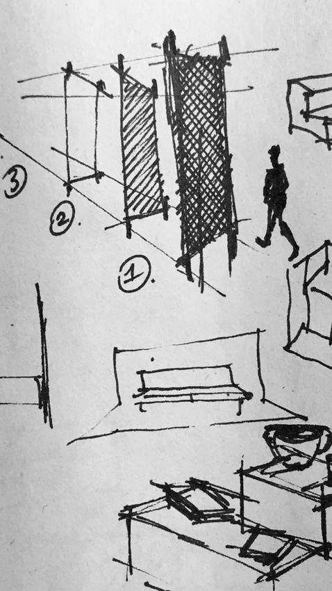 Croquis d'étude Superstane Lille architecte intérieur