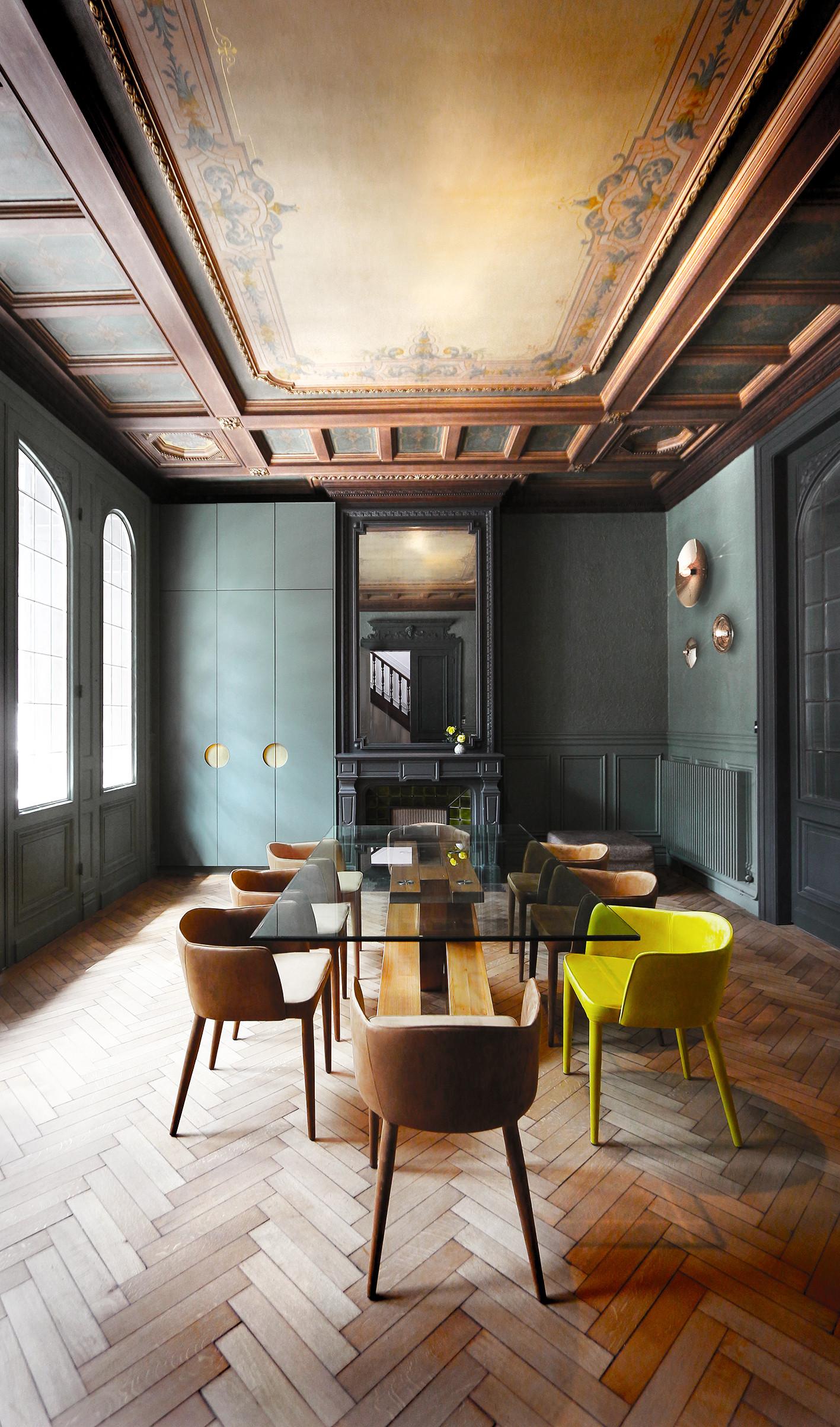 Rénovation hôtel particulier à lille salon salle à manger