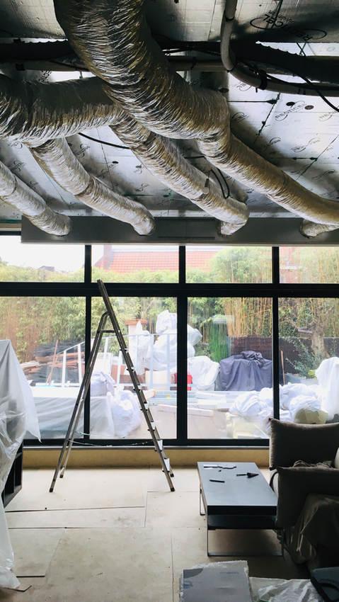 Chantier rénovation loft Tournai Belgique