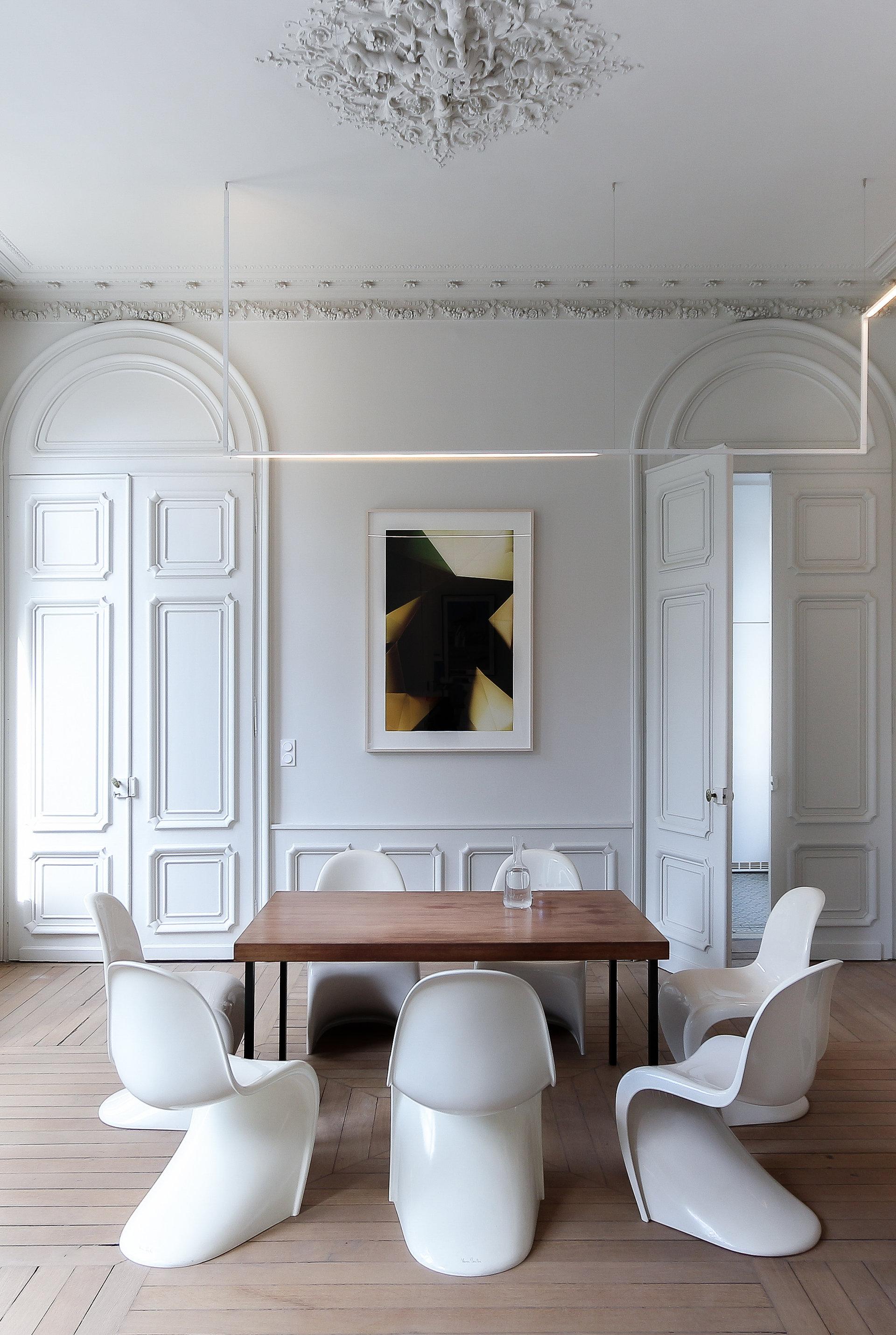 Rénovation d'un hôtel particulier à Lille salon salle à manger