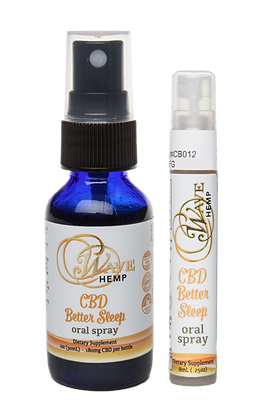 Wave Hemp CBD Better Sleep Oral Sprays Large & Small Size