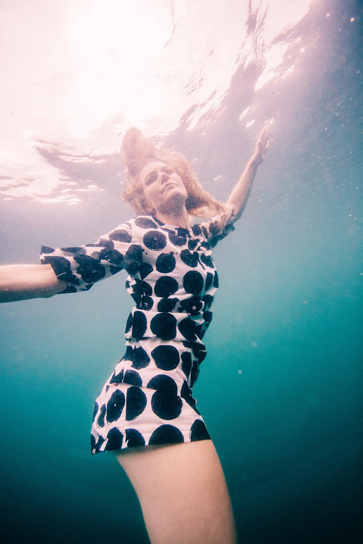 Professional underwater model Johanna Nordblad