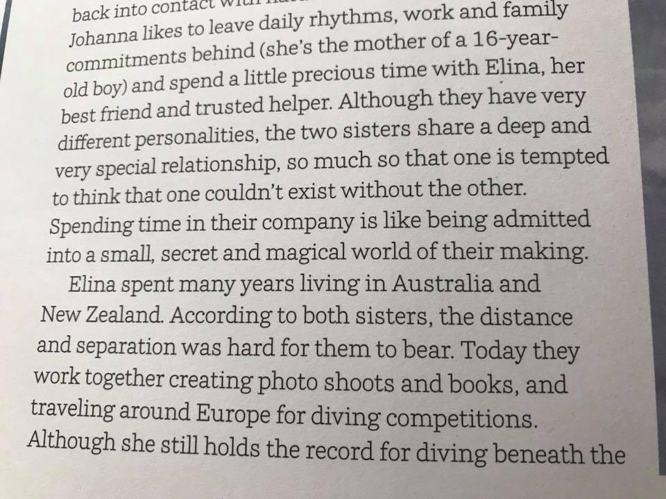 Johanna Nordblad in Perini Journal Dream