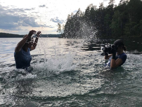 Behind the scenes when shooting underwater