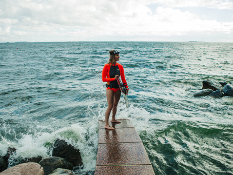 Johanna tells: How I started freediving and freediving in cold water.