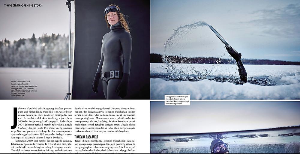 Marie Claire Johanna under the ice