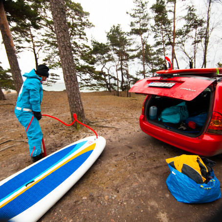 SUP trip to Hanko. March 30th 2015.
