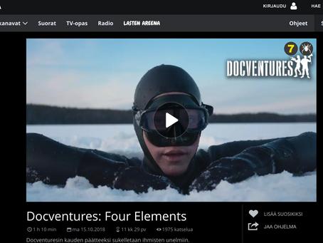 YLE AREENA, DOCVENTURES: Neljä Elementtiä - Life in Four Elements. Movie by Natalie Halla and Matila