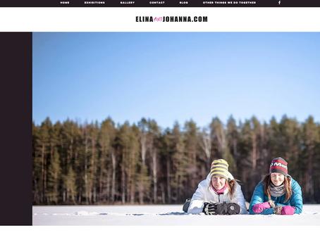 Our art website open - www.elinaandjohanna.com