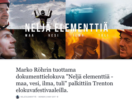 Life in Four Elements - Trento film festival, awarded with  Silver Gentian