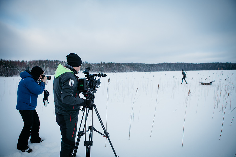 Filming Johanna under the ice