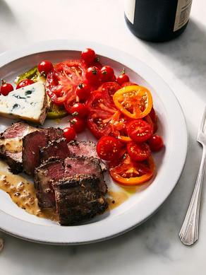 Mustard Crusted Pepper Steak