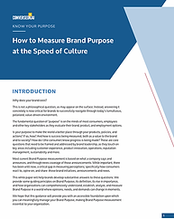 How to Measure Brand Purpose at the Spee