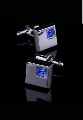 SQUARE DIAMANTÉ CUFFLINKS