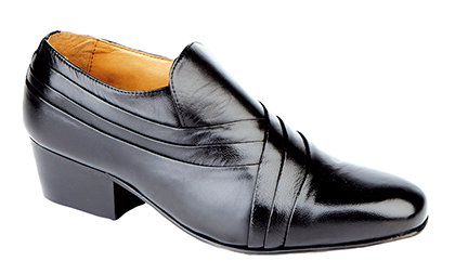 MONTECATINI SOFT LEATHER PLAIN SHOES ( CUBAN HEEL )