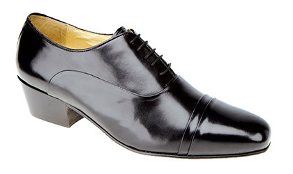 MONTECATINI BLACK SOFT LEATHER LACE UP DRESS SHOES ( CUBAN HEEL )