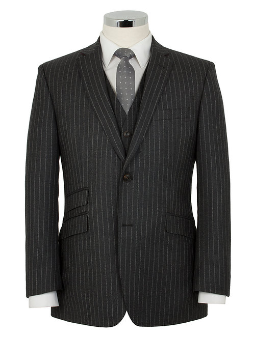 VivaldiPro Charcoal Stripe Lounge Suit (LE005)