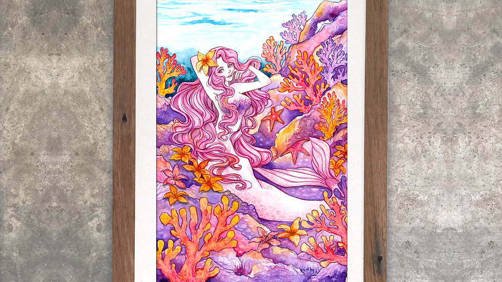 """Purple Coral Fantasy"" Original Watercolor Painting"