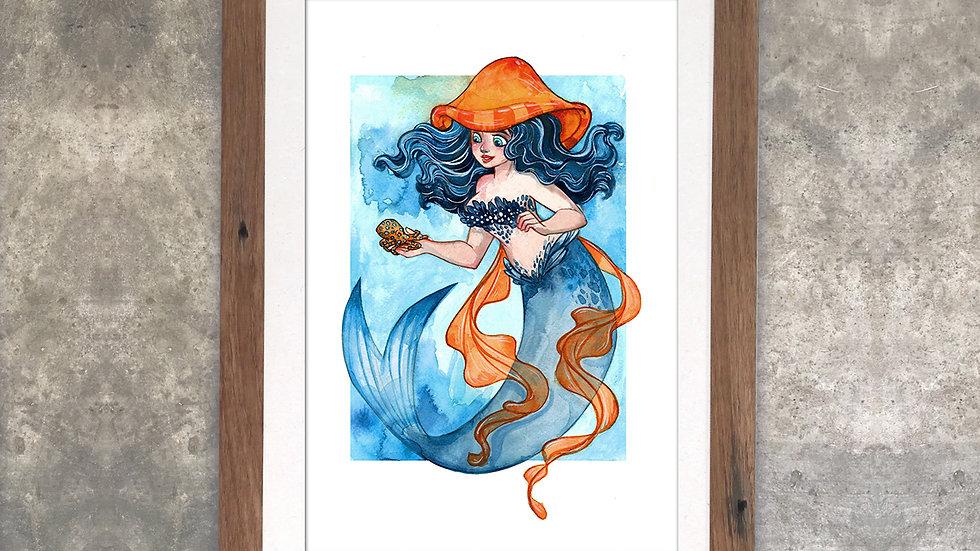 """Familiars: Spots the Octopus"" Original Watercolor Painting"