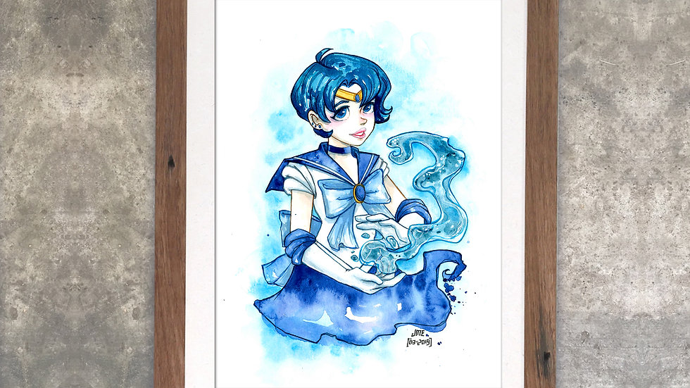 """Sailormercury"" Original Watercolor Painting"
