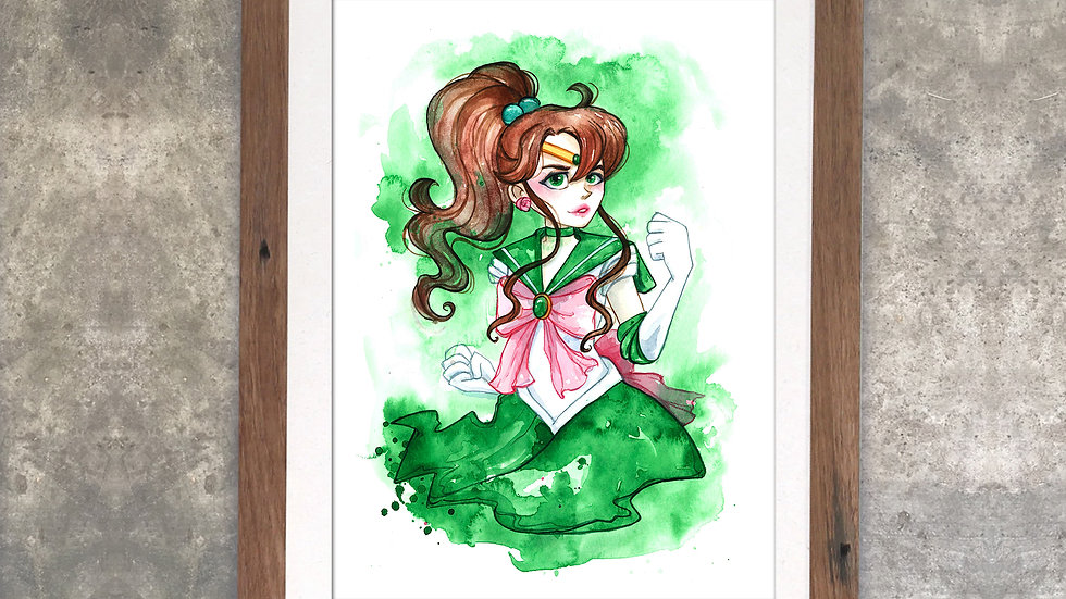 """Sailorjupiter"" Original Watercolor Painting"