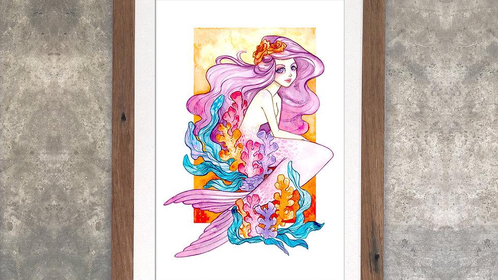 """Coral Reef Dreams"" Original Watercolor Painting"