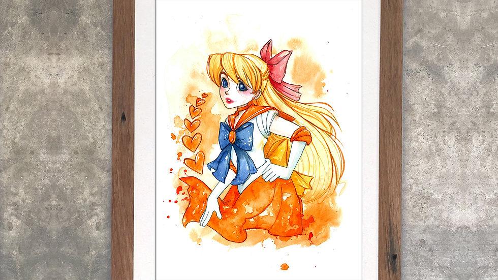 """""""Sailorvenus"""" Original Watercolor Painting"""