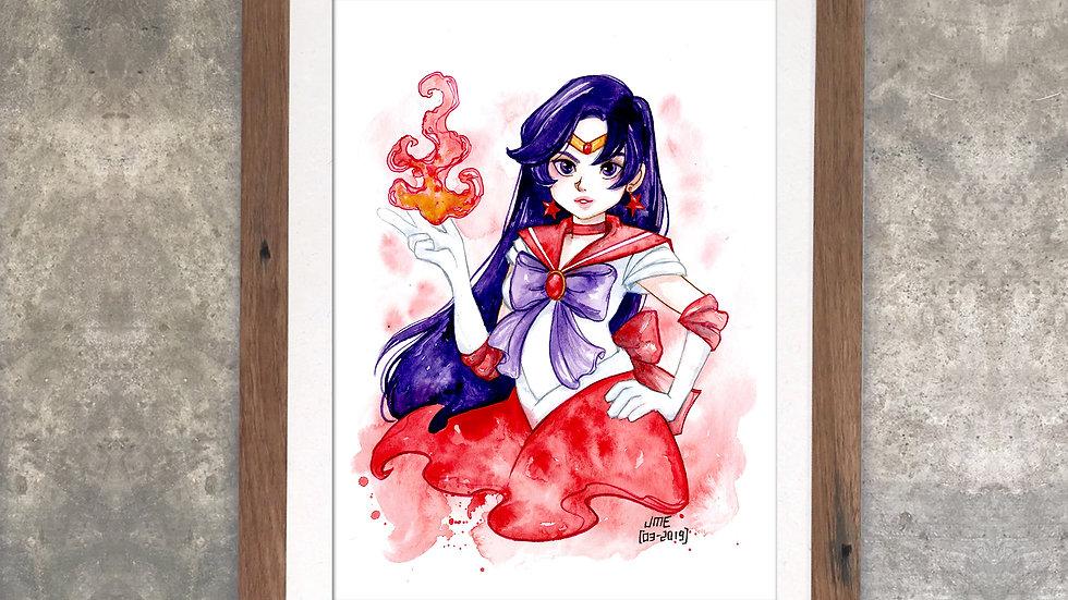 """""""Sailormars"""" Original Watercolor Painting"""