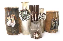 Alison Boyce. Earrings. Enamel on copper, silver hooks