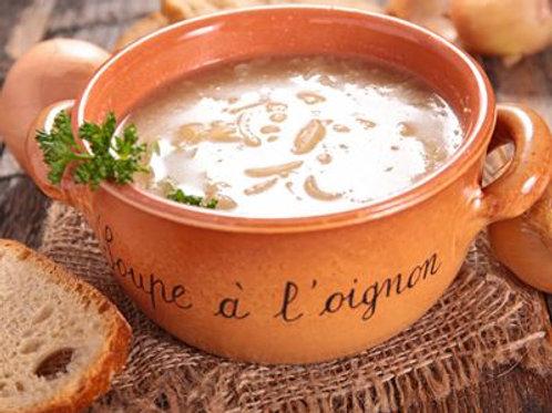 Bouillon soupe à l'oignon