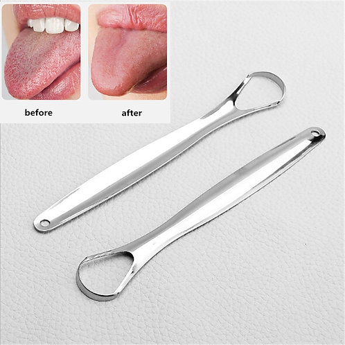 Tongue Scraper Stainless Steel Tongue Cleaner Medical Mouth Brush Reusable