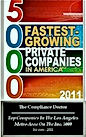 The Compliance Doctor is named one of the top 5000 fastest growing companies 2011.